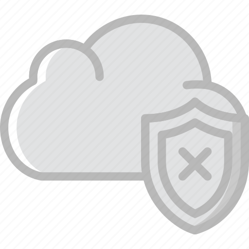cloud, code, coding, development, programming, unsecure icon