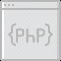code, coding, development, php, programming icon
