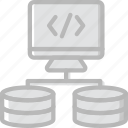 code, coding, database, development, programming, upload icon