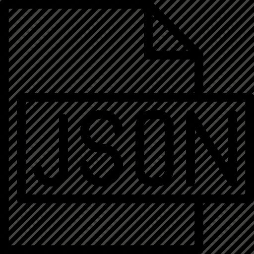 code, coding, development, file, json, programming icon