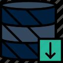 code, coding, database, development, download, programming icon
