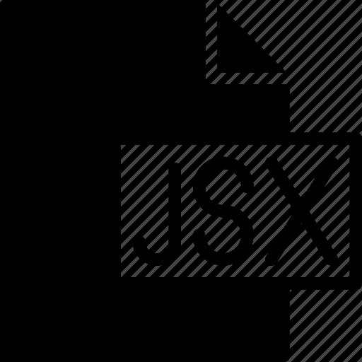 code, coding, development, file, jsx, programming icon