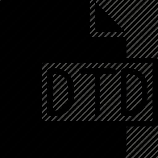 code, coding, development, dtd, file, programming icon