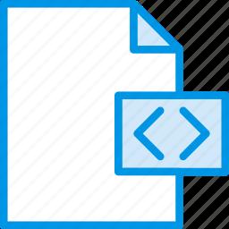 code, coding, development, file, programming icon