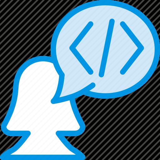 code, coding, development, discussion, programming icon