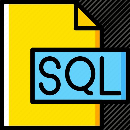 code, coding, development, file, programming, sql icon