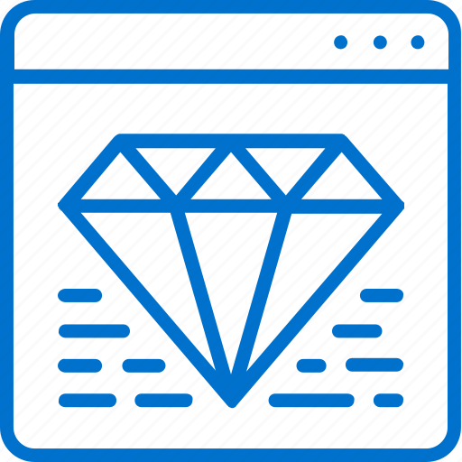 Brilliant, clean, code, coding, diamond, iinternet, quality icon - Download on Iconfinder