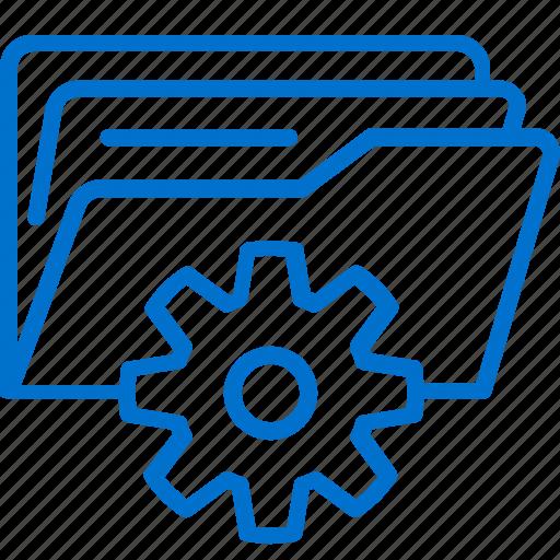 Administration, data, files, folder, gear, management, storage icon - Download on Iconfinder
