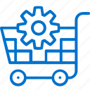 cart, commerce, ecommerce, gear, optimization, shopping, upgrade