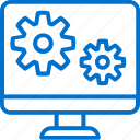 computer, development, gears, interface, software, ui, ux icon