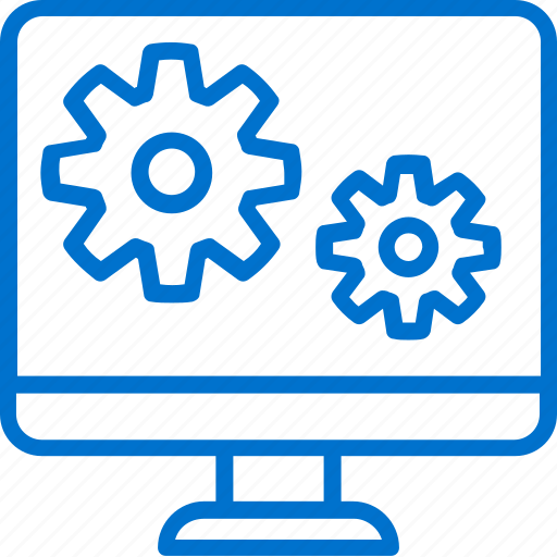 Computer, development, gears, interface, software, ui, ux icon - Download on Iconfinder