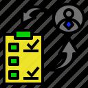 advance, condition, evaluation, result, satisfied icon
