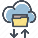 cloud, data, documents, folder, share, shared folder, storage icon