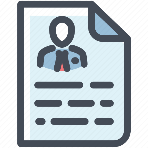 cv, document, file, page, portfolio, profile, resume icon