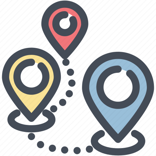 direction, gps, location, marker, navigation, pin, pointer icon