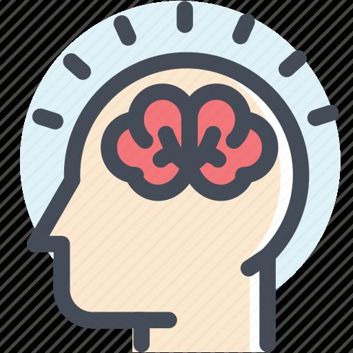brain, brainstorm, creative, head, mind, think, thinking icon
