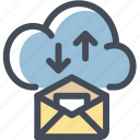 cloud, cloud service, email, internet, signals icon