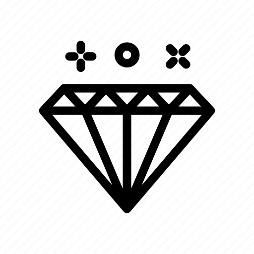 Development, work, diamond icon