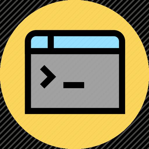 application, command, development, programming icon