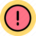 alert, error, warning icon