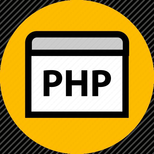 coding, development, php, programming, web, website icon