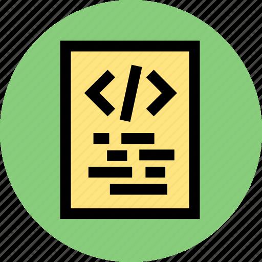 code, development, program, programming, script, script code icon
