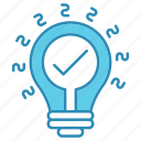 development, idea, innovation, lamp, seo, startup icon
