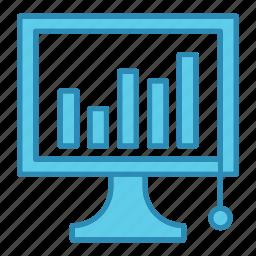 analysis, development, device, diagram, graph, report, startup icon