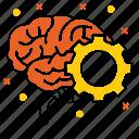 brain, development, idea, selo, solution, startup, think icon