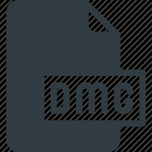 development, dmg, extension, file, programing, type icon