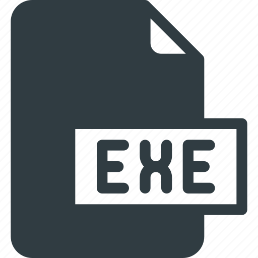 development, exe, extension, file, programing, type icon