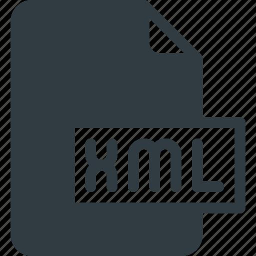 development, extension, file, programing, type, xml icon