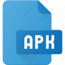 apk, development, extension, file, programing, type icon