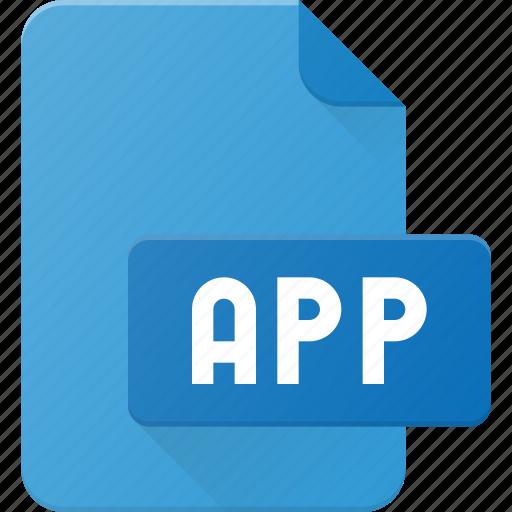 app, development, extension, file, programing, type icon