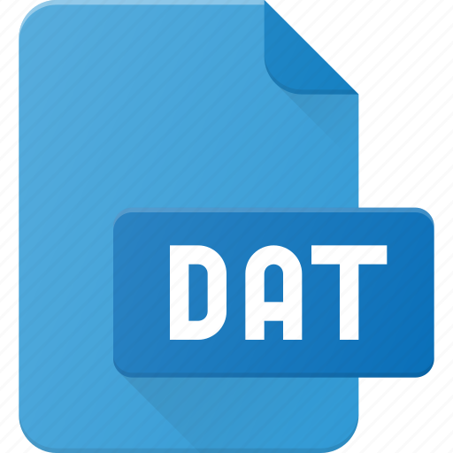 dat, development, extension, file, programing, type icon