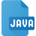 development, extension, file, java, programing, type icon