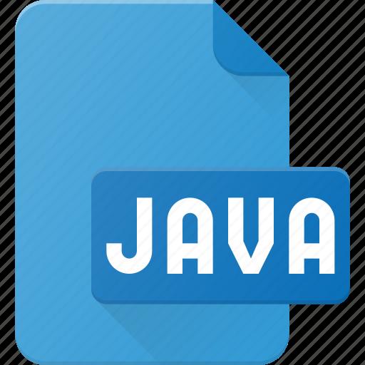 development, extension, file, java, programing, type icon