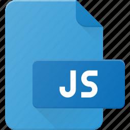 development, extension, file, js, programing, type icon