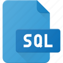 development, extension, file, programing, sql, type icon