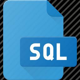 development, extension, file, programing, sql, type icon