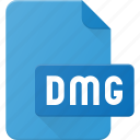 development, dmg, extension, file, programing, type icon