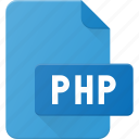 development, extension, file, php, programing, type icon
