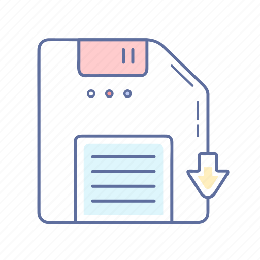 development, down, download, file, folder icon