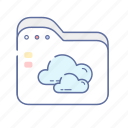cloud, file, folder, storage, web icon