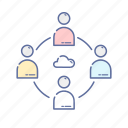 chat, cloud, communication, connecting, internet, network, web icon