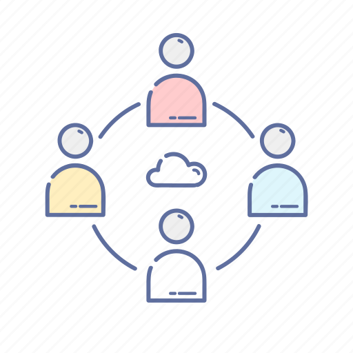 chat, cloud, communication, connecting, network icon