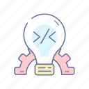 coding, creative, development, idea, lamp icon