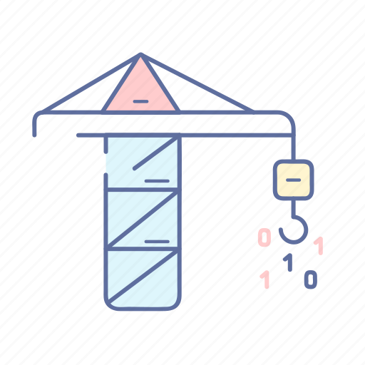 binary, coding, programming, site building, technology icon