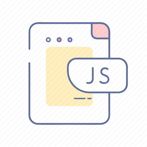 code, extension, file, js, programming icon
