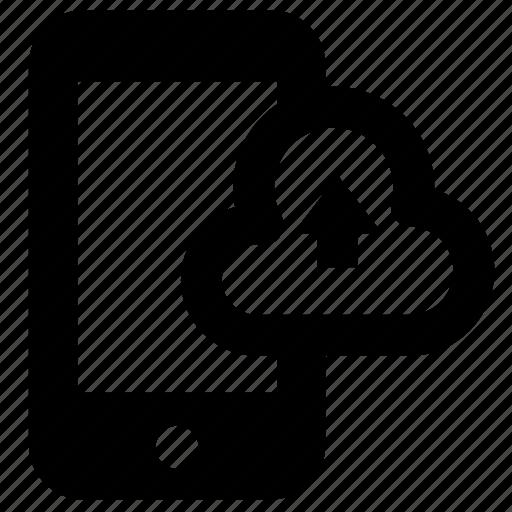 cloud, communication, computer, device, gadget, smartphone, upload icon